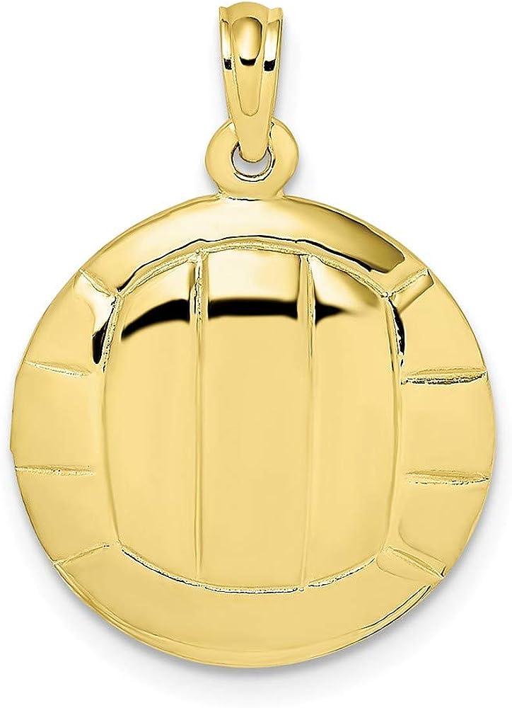 FB Jewels 10K Yellow Gold Volleyball High Polish 2D Pendant