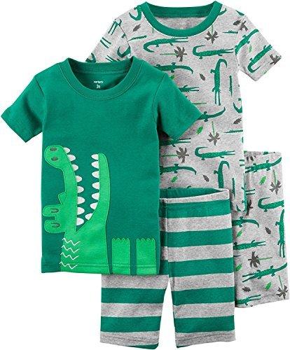 Carter's Toddler Boy's 4 Pc Snug Fit Cotton Alligator Pajamas PJS (5T)