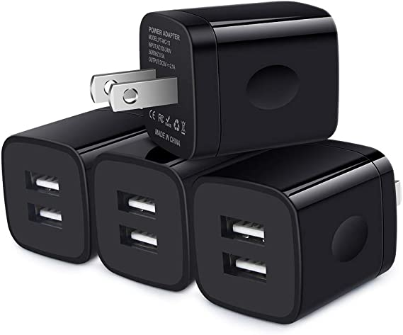 4 USB PORT WALL ADAPTER+3FT CABLE POWER CHARGER PURPLE LG G2 OPTIMUS PRO MOTO G
