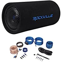 Rockville RTB65A 6.5 300 Watt Powered Subwoofer Bass Tube + MP3 Input + Amp Kit
