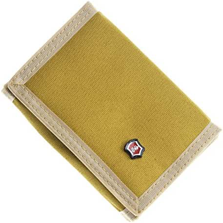 JEMINAL New Mens Canvas Trifold Wallets Purse with id window