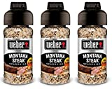 Weber Seasoning - Montana Steak - Net Wt. 3.75 OZ (107 g) Per Bottle - Pack of 3 Bottles