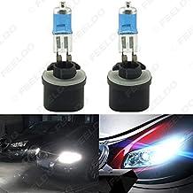 FEELDO White 880 27W Car Fog Lights Halogen Bulb Headlights Lamp Car Light Source Parking 5000K Pack of 2 (880 27W)
