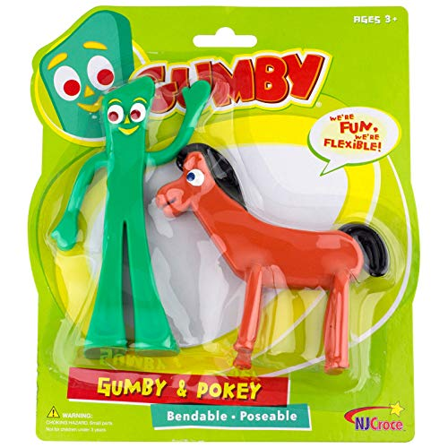 Gumby Characters - NJ Croce Gumby & Pokey Bendable
