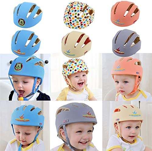 ouying1418 Baby Safety Helmets Cotton Infant Protective Hat Headguard Crashproof Hat,apple flower