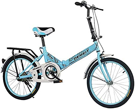 Bicicleta Plegable Unisex para Adultos, Plegable Plegable Urbana, Ideal para La Ciudad Y Los Viajes Diarios, Ruedas De 20 Pulgadas, Azul: Amazon.es: Hogar