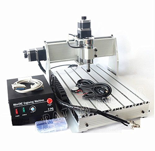 3 Axis 3040 Z-DQ 300W Mach3 CNC Router Engraver Engraving Milling Drilling Machine Desktop Kit 110V by RATTMMOTOR