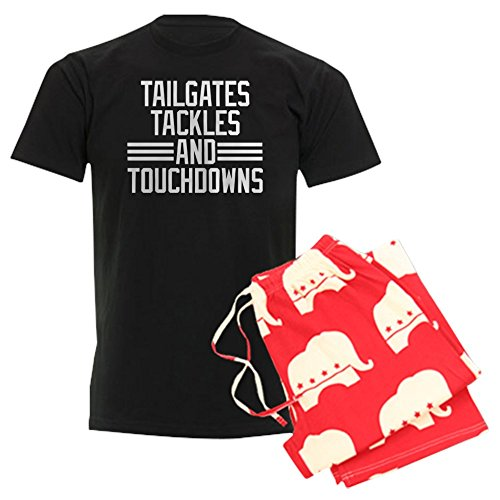 (CafePress Tailgates Tackles and Touchdow Unisex Novelty Cotton Pajama Set, Comfortable PJ Sleepwear)