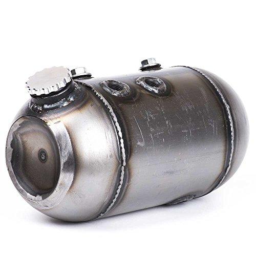 Bison Motorsports Mini Keg Side Fill Oil Bag - Round Keg Style Oil Tank for Harley Sportsters, Bobbers or Choppers ()
