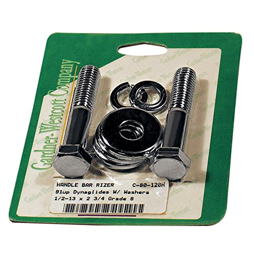 Gardner Wescott Chrome Handlebar Riser Bushing Bolt Set 1/2