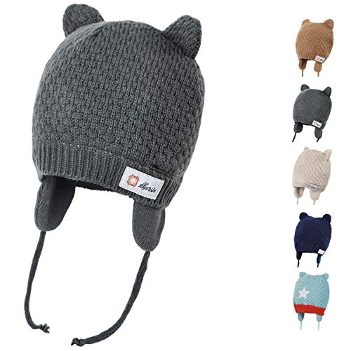 DRESHOW Baby Hat Cute Bear Toddler Earflap Beanie Warm for Fall Winter