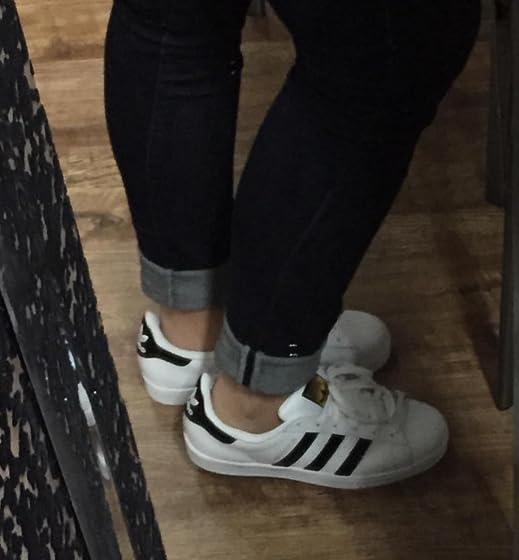 adidas Originals Men's Superstar Sneaker Woman US Size 8/8.5 got these in 7US MEN