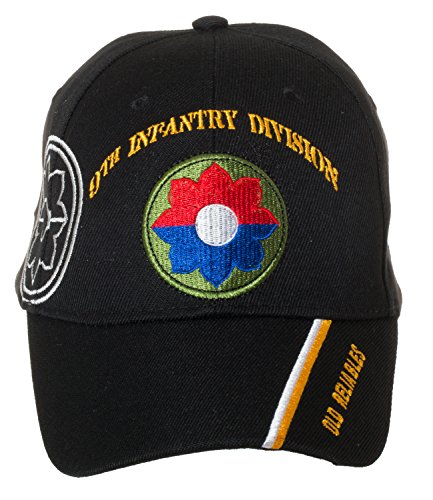 Officially Licensed US Army Infantry Division Black Embroidered Baseball Cap - Multiple Divisions Available! (9th Infantry) ()