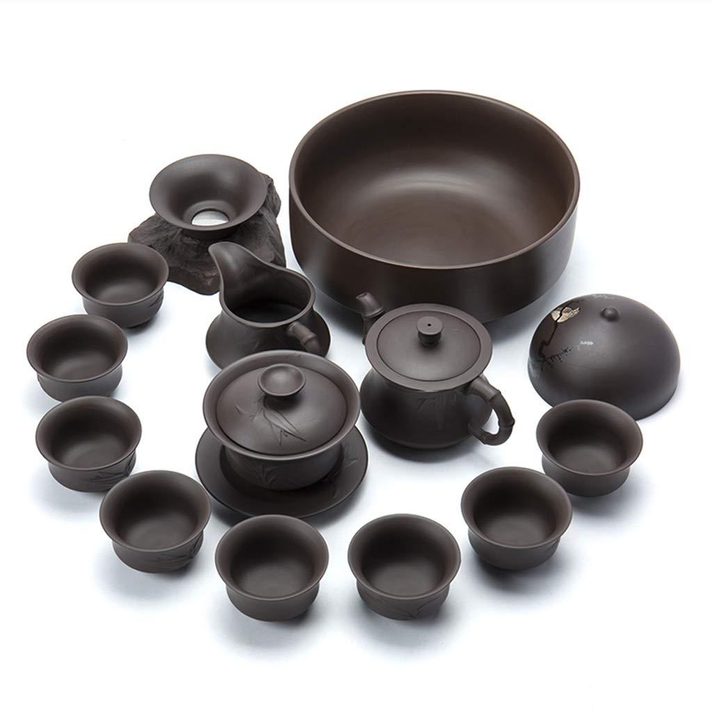 日本茶茶道道具 カンフーティーセット家庭用怠惰な茶自動/中国赤レトロカバーボウルティーカップ最高の贈り物 ティー用品 (Color : Black) B07MH5L4X3 Black