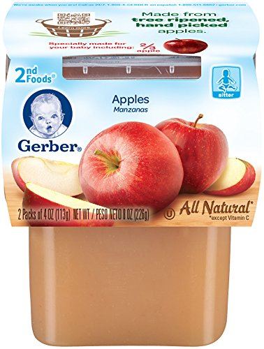 Gerber 2nd Foods Apples, 4 Ounce Tubs, 2 Count (Pack of 8)