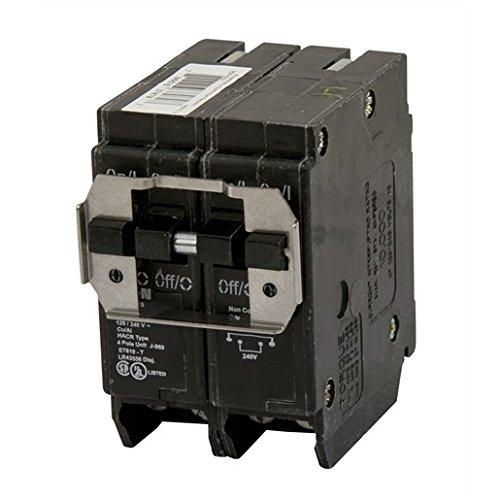 - Eaton BQC215240 Breaker, 15/40A, 2P, 120/240V, 10 kAIC, CTL Quad, BR Series