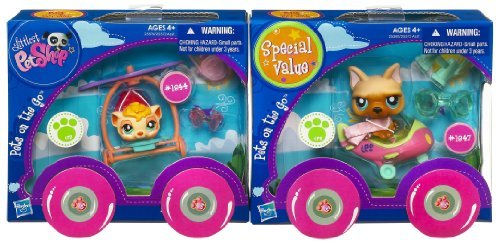 Littlest Special Pet Shop Go Pets [並行輸入品] On The Go Special Value Pack (Guinea Pig and Dog) [並行輸入品] B077QLVC71, トミサトシ:20817711 --- arvoreazul.com.br
