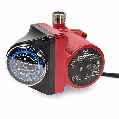 "Grundfos 595916 Up15-10su7p Tlc, Comfort Hot Water Recirculation Pump, 3/4"" Npt, 115 V"