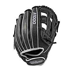 This A1000 infield WTA10RF19INF12 features a clean grey and white color combination with a dual post web design. The leather gives you a true Pro stock feel - with a perfect combination of strength where you need it and softness where you don...