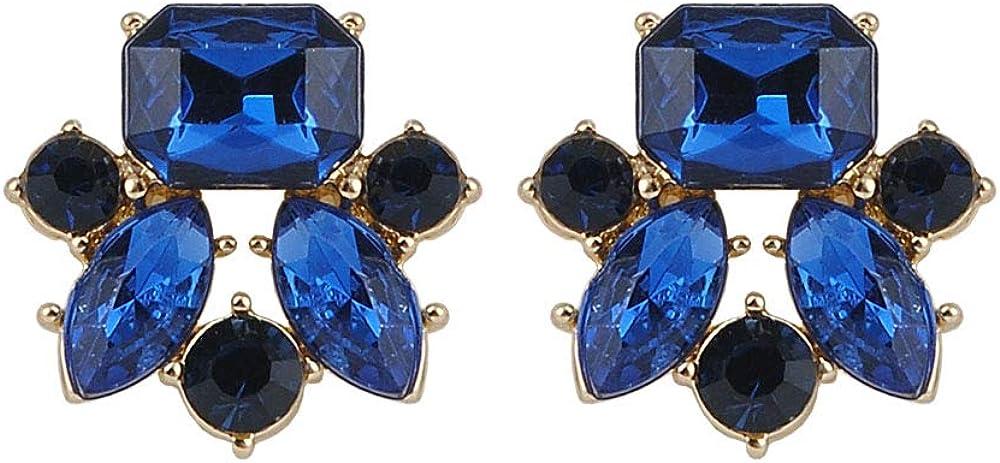 Pendientes elegantes de cristal con piedras preciosas de resina y diseño de bohemia de Bijoux Brincos