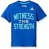 adidas Big Boys' Active Tee Shirt, Dark Blue, S