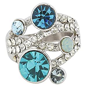 Giro Woman's Alloy Circle Stone Ring - G0075-18 mm
