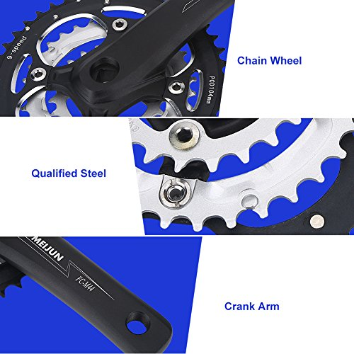 Bike Crank Set, 9 Speed Crank Left & Right Arms for Mountain Bike by VGEBY (Image #4)