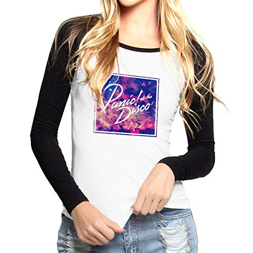 AOYQONMVP Panic at The Disco M Long Sleeve Womens Baseball T-Shirt Sports Raglan Tee Shirts ()