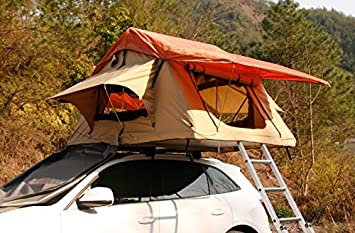 OUTOUR® Rooftop Roof Top Tent Outdoor Safari C&ing Tent Hunting Tent (Orange 160W & OUTOUR® Rooftop Roof Top Tent Outdoor Safari Camping Tent Hunting ...