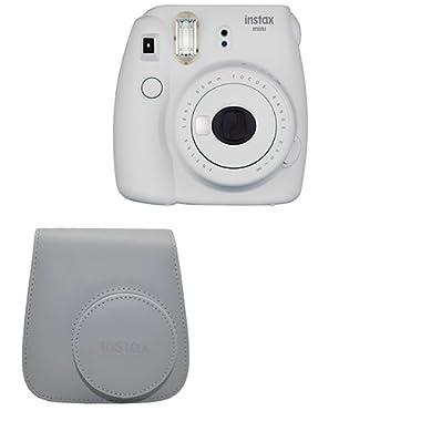 Fujifilm Instax Mini 9 Instant Camera with Instax Groovy Camera Case (Smokey White)