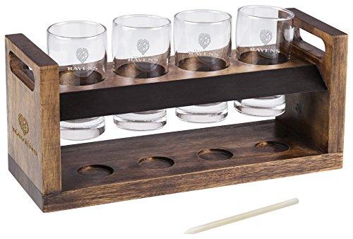 PICNIC TIME NFL Baltimore Ravens Craft Beer Four Glass Tasting Set