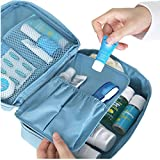 Storage Basket,Haoricu 2018 Clearance Convenient Travel Cosmetic Makeup Organizer Toiletry Case Bag Wash Storage Pouch Handbag (Blue)