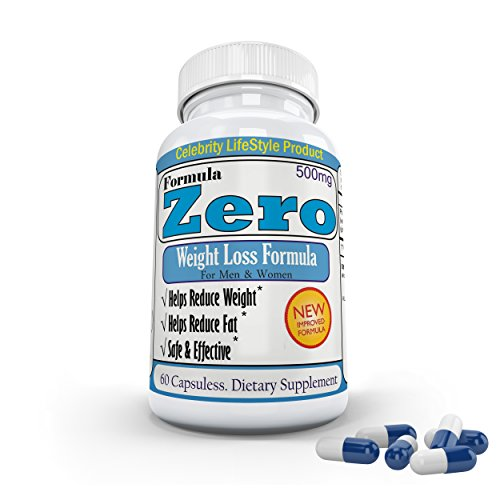 "Celebrity's ""Formula Zero™ "" Most Effective Weight Loss Formula│Rapid Weight Loss│Diet Pills│Extreme Fat Burner│Flat Belly│Ultra Slim Body│Six Pack Abs│30 Days Supply│ Made in USA."