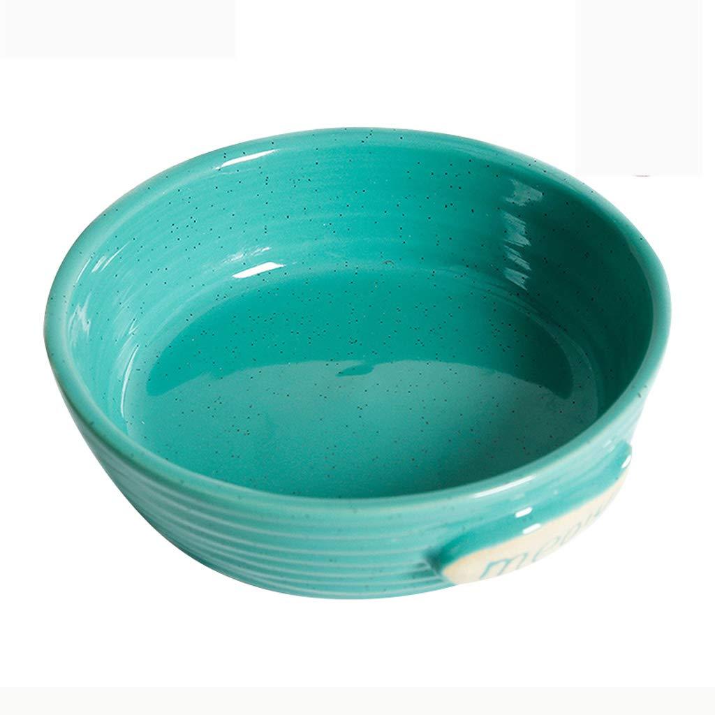 Green XUANLAN Pet Ceramic Bowl, Cat Bowl Dog Food Bowl Pet Tableware Pet Supplies (color   Green)