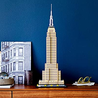 LEGO Architecture Empire State Building 21046 New York City Skyline Architecture Model Kit for Adults and Kids, Build It Yourself Model Skyscraper (1767 Pieces): Toys & Games
