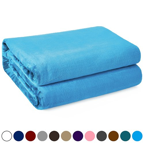 Kawahome King Flannel - Turquoise Fleece Luxury Blanket, Sup