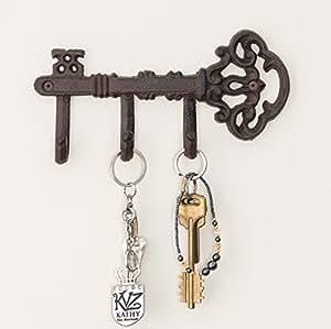 decorative wall mounted skeleton key holder. Black Bedroom Furniture Sets. Home Design Ideas
