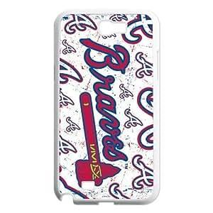 Custom Atlanta Braves Hard Back Cover Case for Samsung Galaxy Note 2 NT976