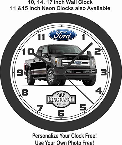 Jim's Classic Clocks 2018-2019 Ford F350 King Ranch Pickup Truck Wall Clock-Free USA Ship ()