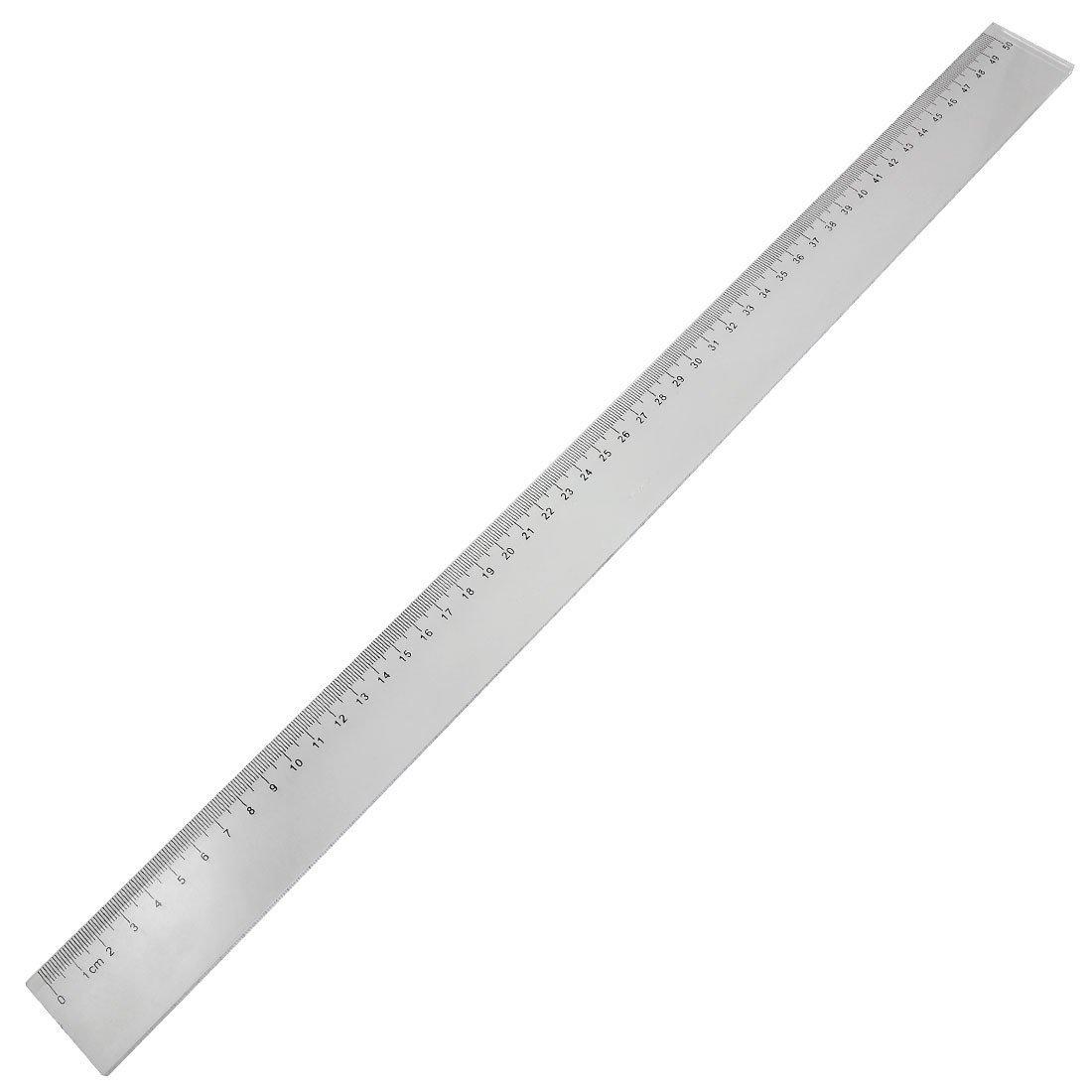 R 50cm Clear Plastic Measuring Long Straight Centimeter Ruler TOOGOO