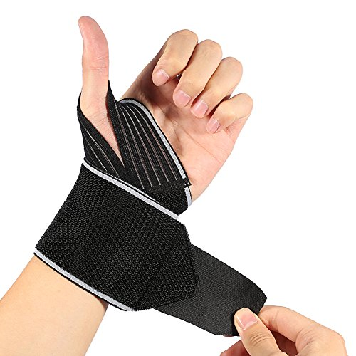 DOACT Wrist Wraps with Wider Thumb Loops, Adjustable Wrist Wraps Support Brace with Thumb Stabilizer for Crossfit, Powerlifting, One Pair Wrist Wraps Weightlifting for Men and Women (Power Thumb Loop Wrist Wrap)