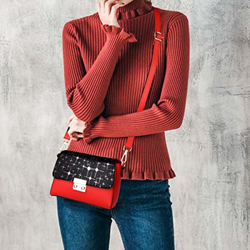 Fashion Femelle amp; bandoulière carré A ins Nouveau Sac Femme Messenger Casual DORIS Rouge Sac Sac NICOLE Sac Gros Petit à Rouge wBq8Idqx