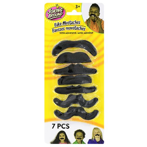 Mustache Multipack, Fake adhesive Moustache, Great for Halloween, Party, Dress up and Costumes and fake facial hair