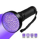 QueenA UV Blacklight Flashlight - Siomentdi Super Bright 100 LED Black Light Flashlight, Handheld Scorpion Detector Finder Stains on Carpet Rugs for Home Hotel