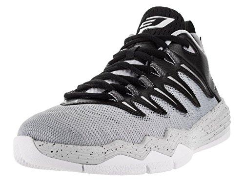 Jordan Nike Kids CP3.IX Blck/Mtllc Slvr/Elf Gry/Pr Plt Basketball Shoe 5 Kids US by Jordan