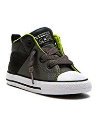 Converse Kids Baby Boy's Chuck Taylor All Star Axel Mid (Infant/Toddler) Charcoal Grey/Black/White 4 Toddler M