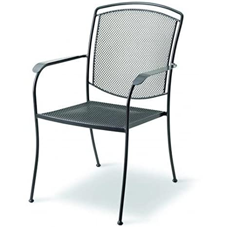 Amazon Com Kettler Classic Wrought Iron High Back Chair Home Kitchen