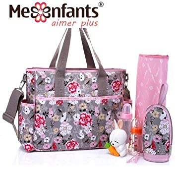 98f9bf7349 Amazon.com   Mes Enfant Baby Large Flower Diaper Bag for Mom Maternity Bags  to Mother Bolsa Maternidade sac a langer Nappy Changing Mummy   Baby