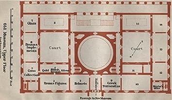 Amazoncom ALTESOLD MUSEUM Berlin Upper Floor Plan Antiquarium - Vintage map berlin