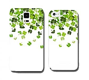 St. Patrick's day vector background with shamrock cell phone cover case Samsung S4 mini